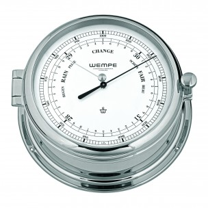 Wempe ADMIRAL II Messing  chrome plated DD-Barometer CW460006