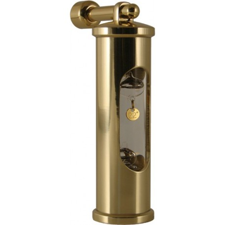 Galileiglass + Wall mount - brass - 18, 20, 22, 24 C thermometer