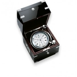 Wempe Unified Chronometer brass/chrome plated mahogany black