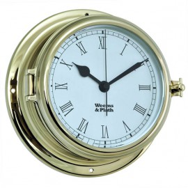 Weems & Plath Brass Endurance II 135 Quartz Clock w/Roman Numerals