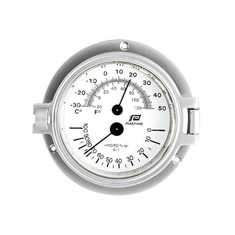 Plastimo Hygro/ Thermo meter 3 INCHES in mat chroom  35885