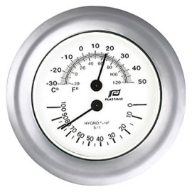 Mat chroom 4 inch Plastimo Thermo/Hygrometer 38208