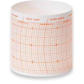 Wempe Drum barograph Diagram paper 52 sheet/1 year  Inch