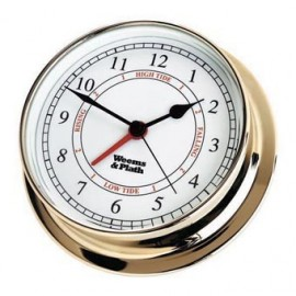 Weems and Plath Endurance 125 quartz clock and tide Brass