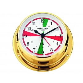 Skiff brass Radioroom clock with silent sectors