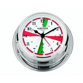 Wempe Skiff Messing  chrome plated  Radioroom clock with silent sectors