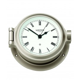 Nautik brass  nickel plated Ship's clock