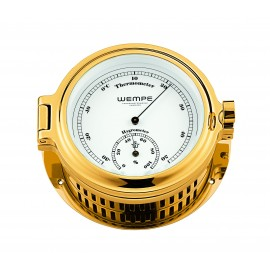 Regatta brass  gold plated Thermo/Hygrom.