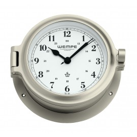 Cup brass  nickel plated Ship's clock