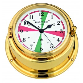 BREMEN II   brass Radioroom clock with silent sectors