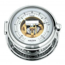 Wempe SENATOR  Messing  chrome plated DD-Barometer with visual movement