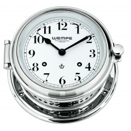 Wempe SENATOR  Messing  chrome plated Striking clock (Ship bells)