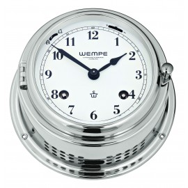 BREMEN II   brass  chrome plated Striking clock (Ship bells)