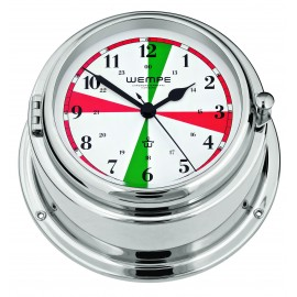 Wempe BREMEN II   Messing  chrome plated Radioroom clock with silent sectors