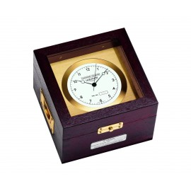 Chronometer   brass /Mahogany Chronometer with Zertificate